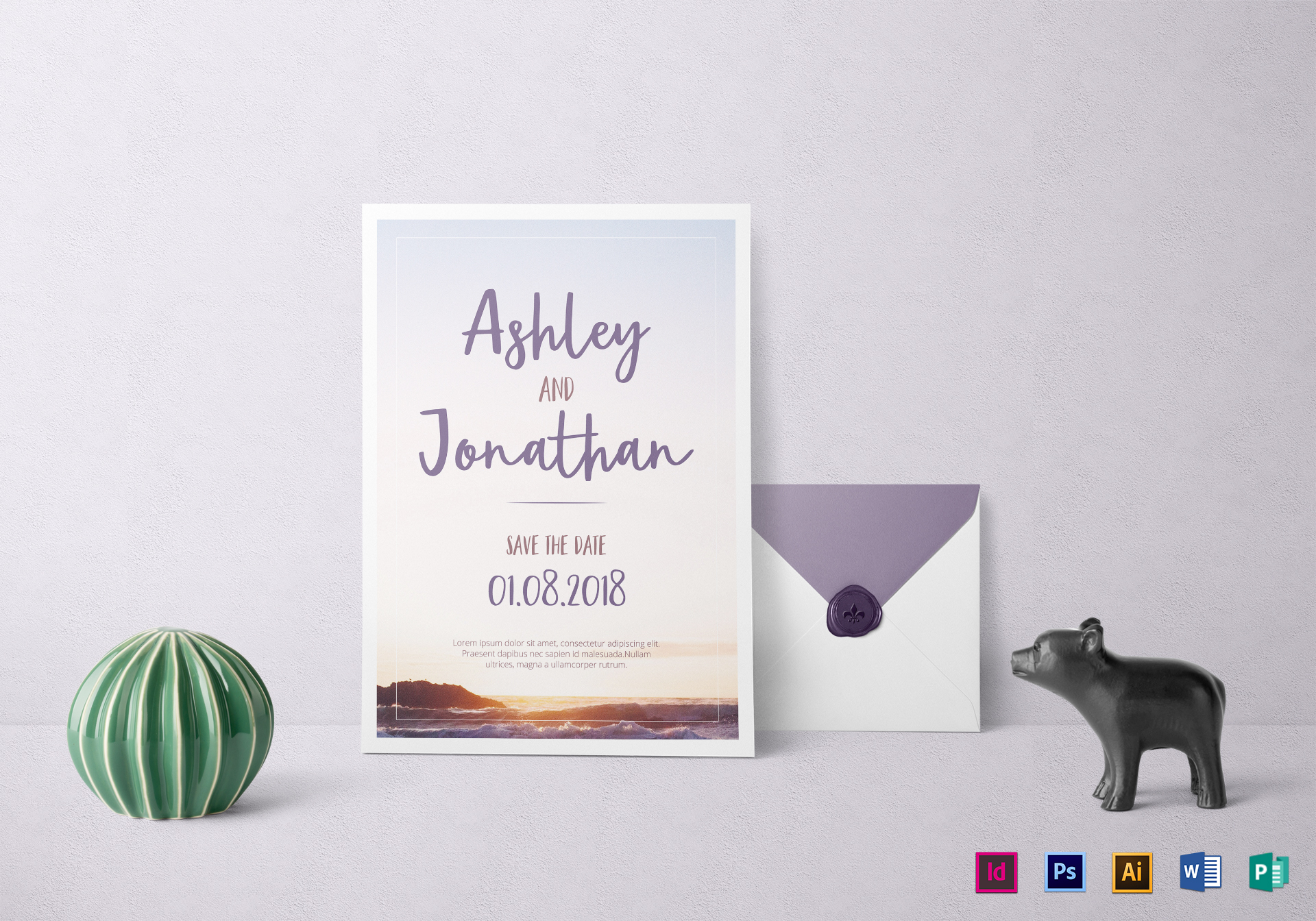 Special Beach Wedding Invitation