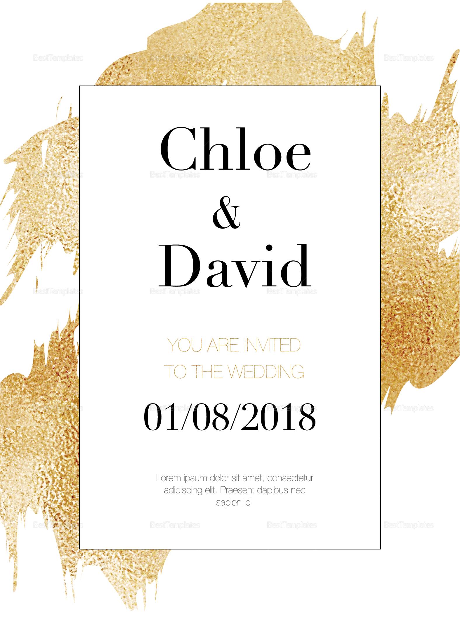 Wonderful Modern Wedding Invitation Template