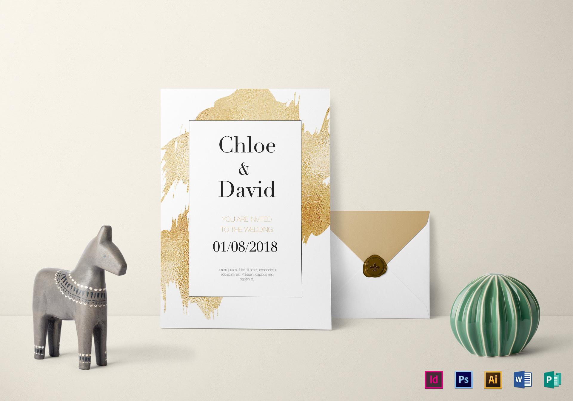Wonderful Modern Wedding Invitation