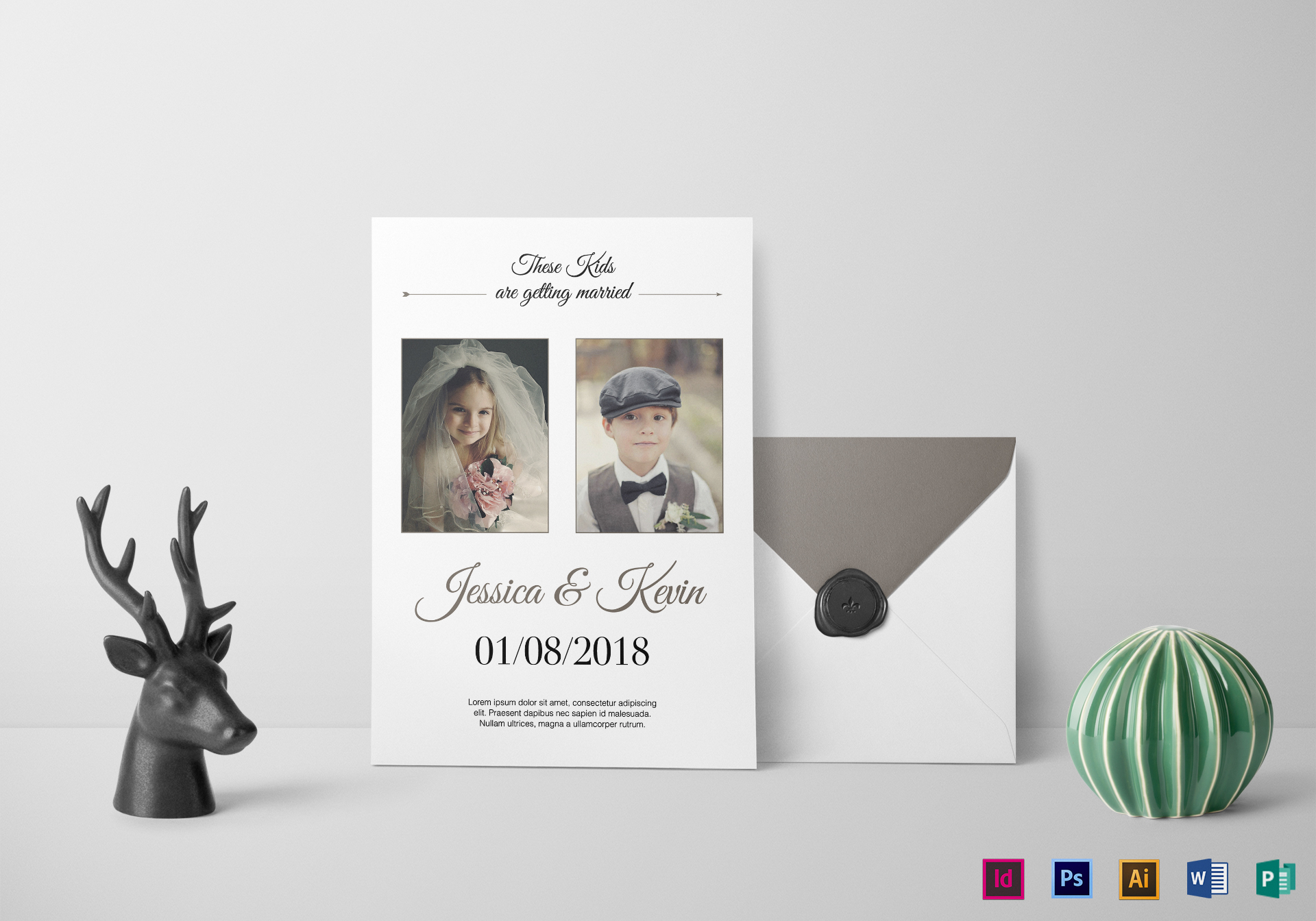 Funny Invitations For Wedding: Funny Wedding Invitation Design Template In PSD, Word