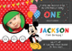 Exciting Mickey Mouse Birthday Invitation Card Template