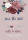 Boho Rose Wedding Invitation Template