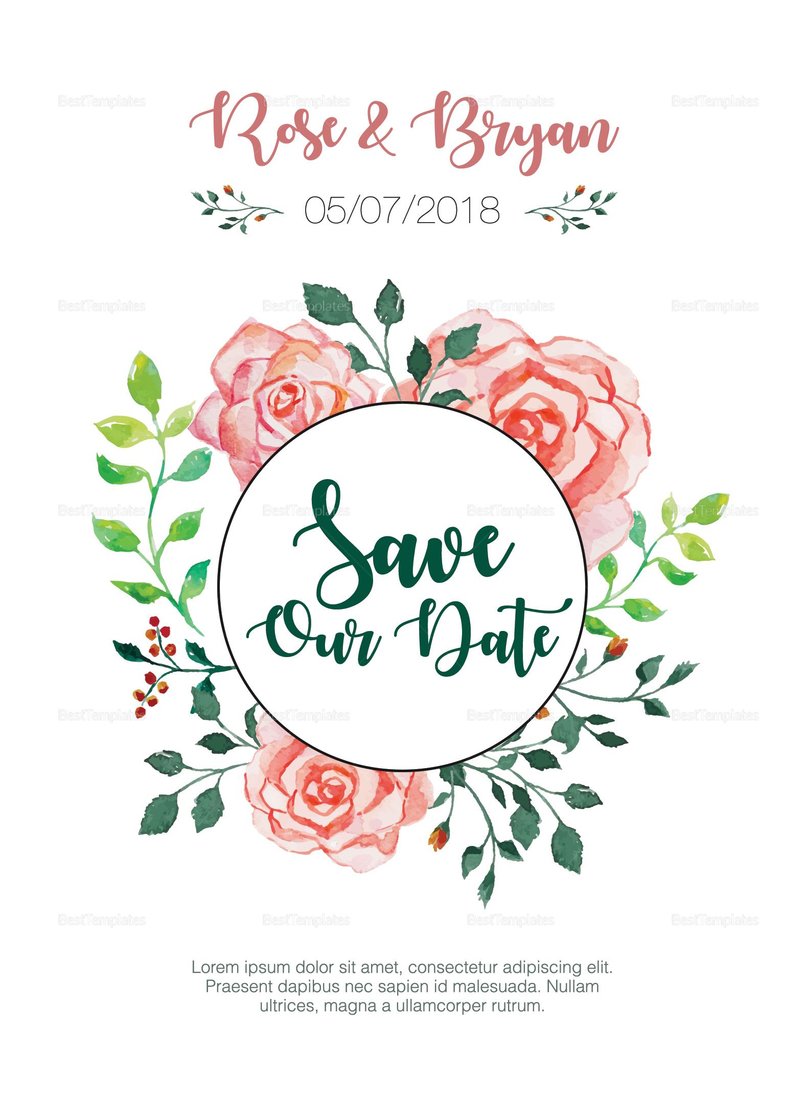 Private Personalized Wedding Invitation Template