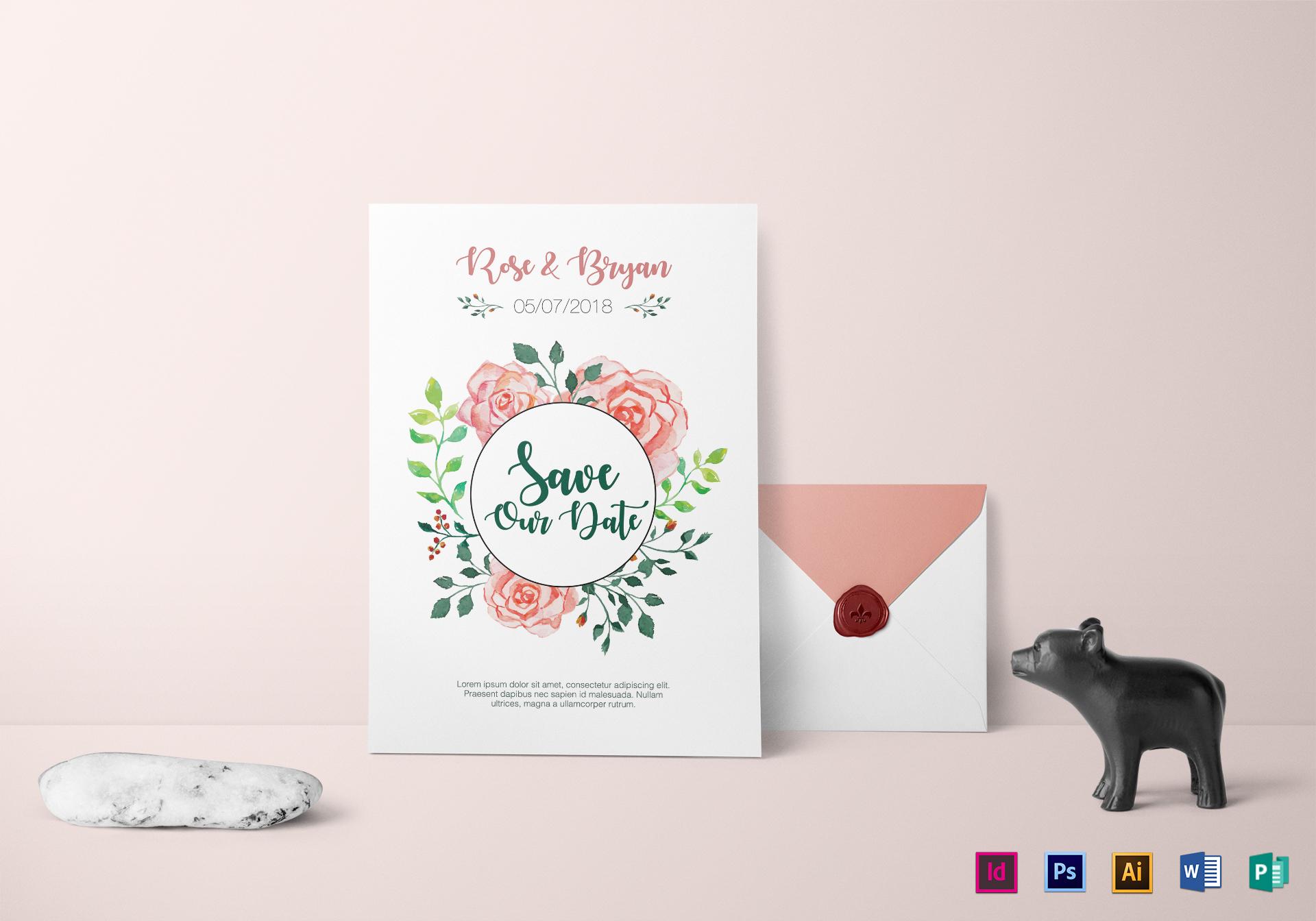 Private Personalized Wedding Invitation