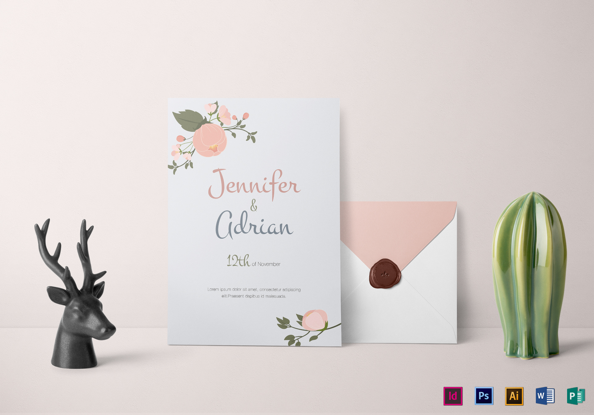 Apple Blossom Wedding Invitation