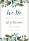 Green Foliage Wedding Invitation Template