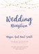 Wedding Reception Invitation Template