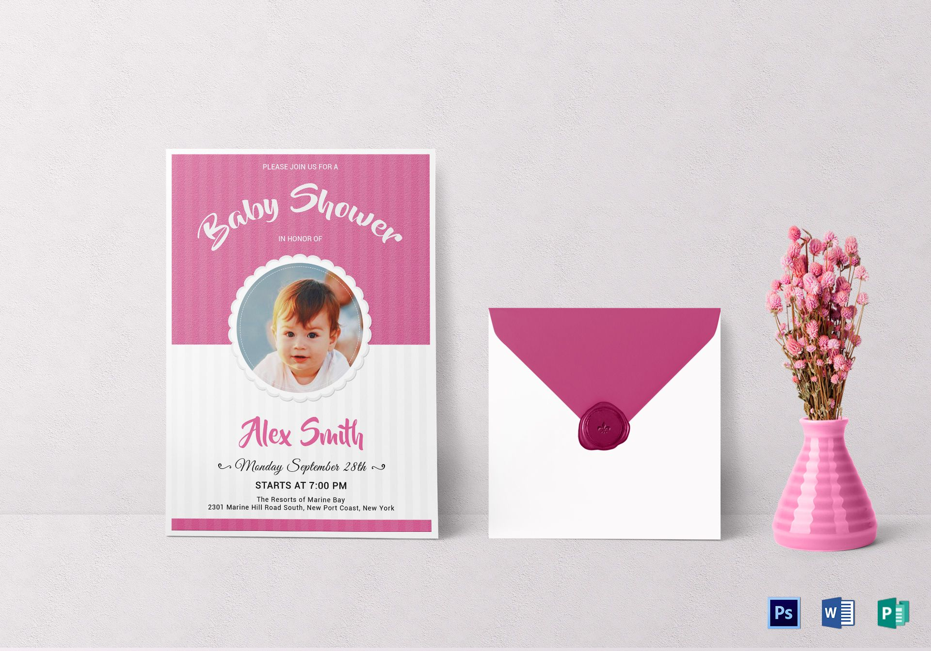 Stylish Baby Shower Invitation Template