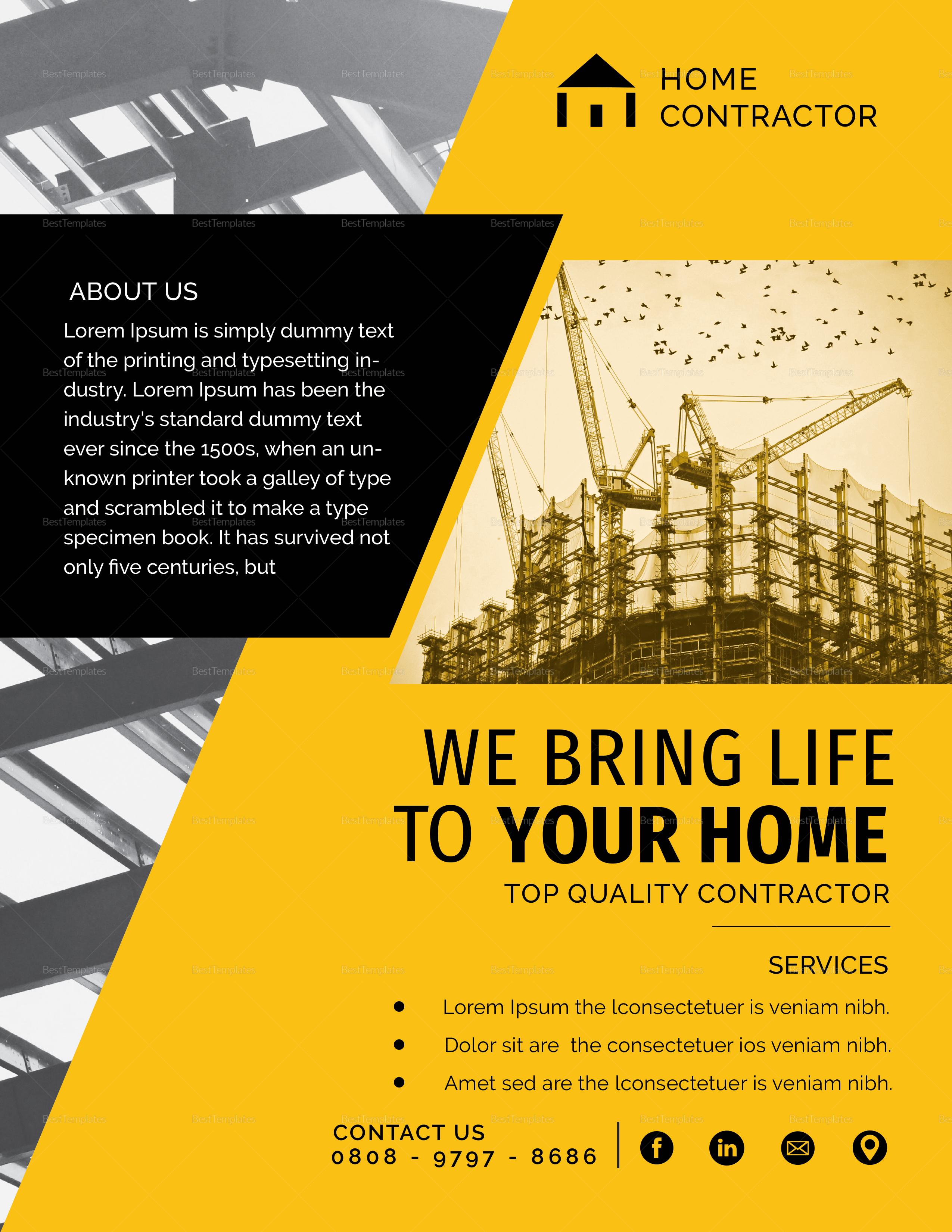 Contractors Flyer Design Template