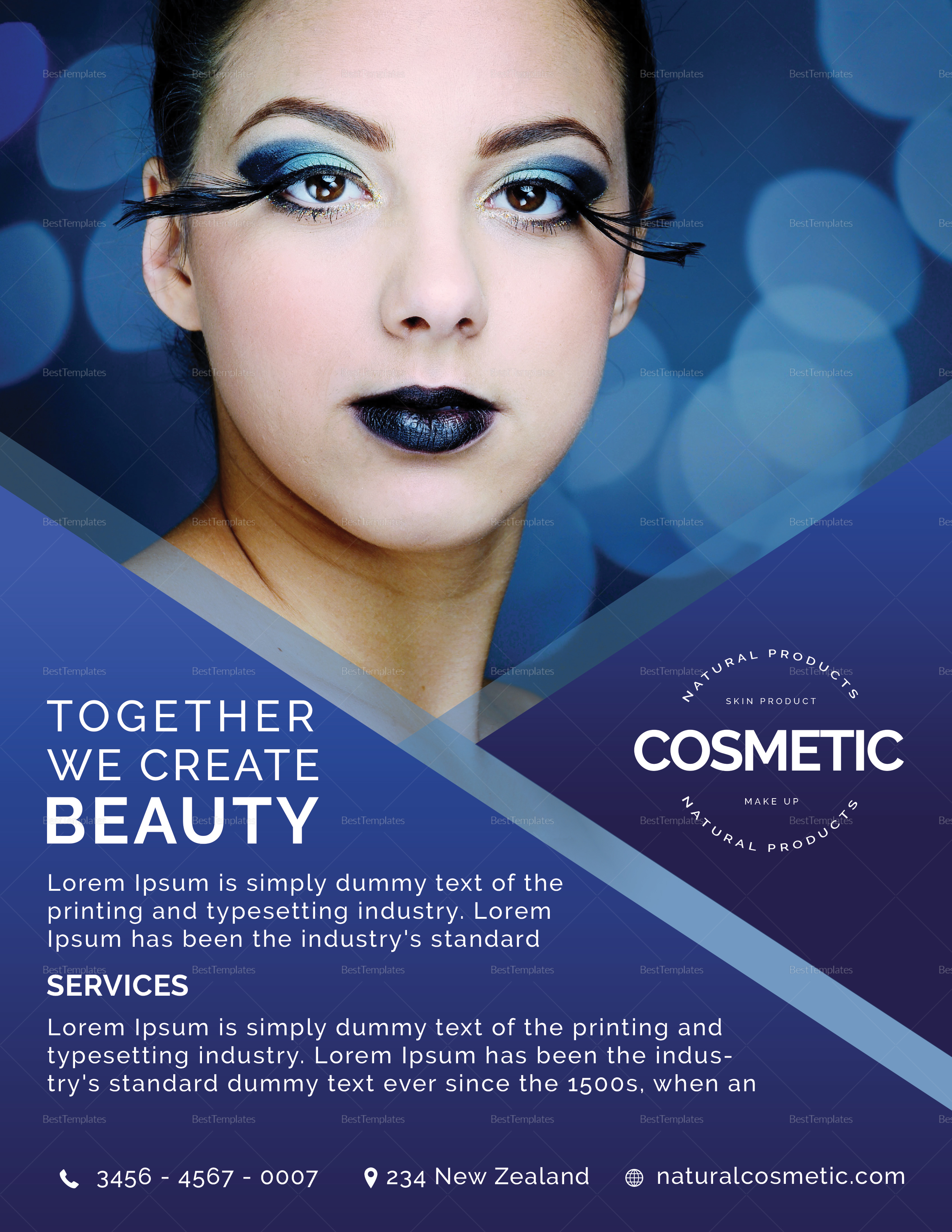 Cosmetic Flyer Design Template