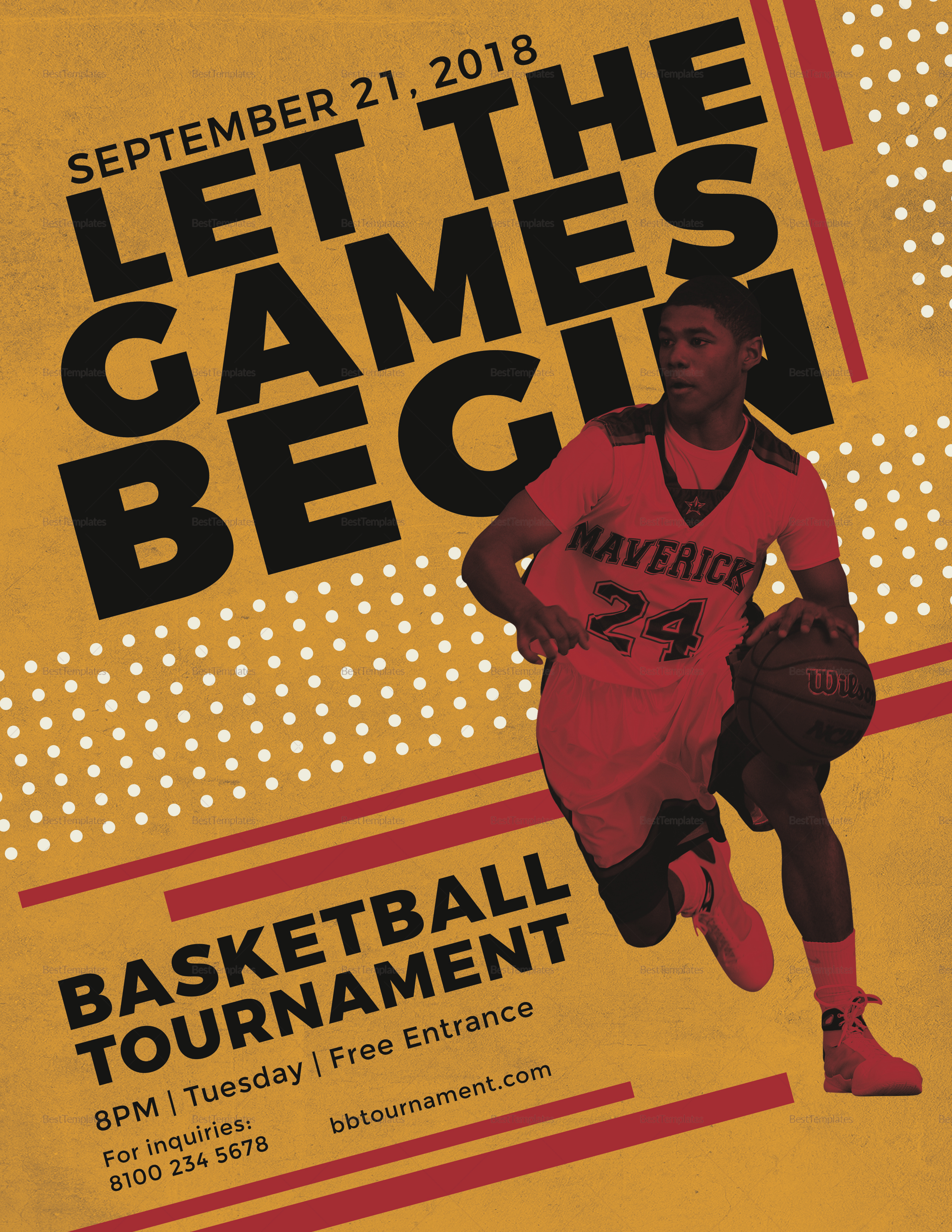 basketball tournament flyer design template in psd word publisher