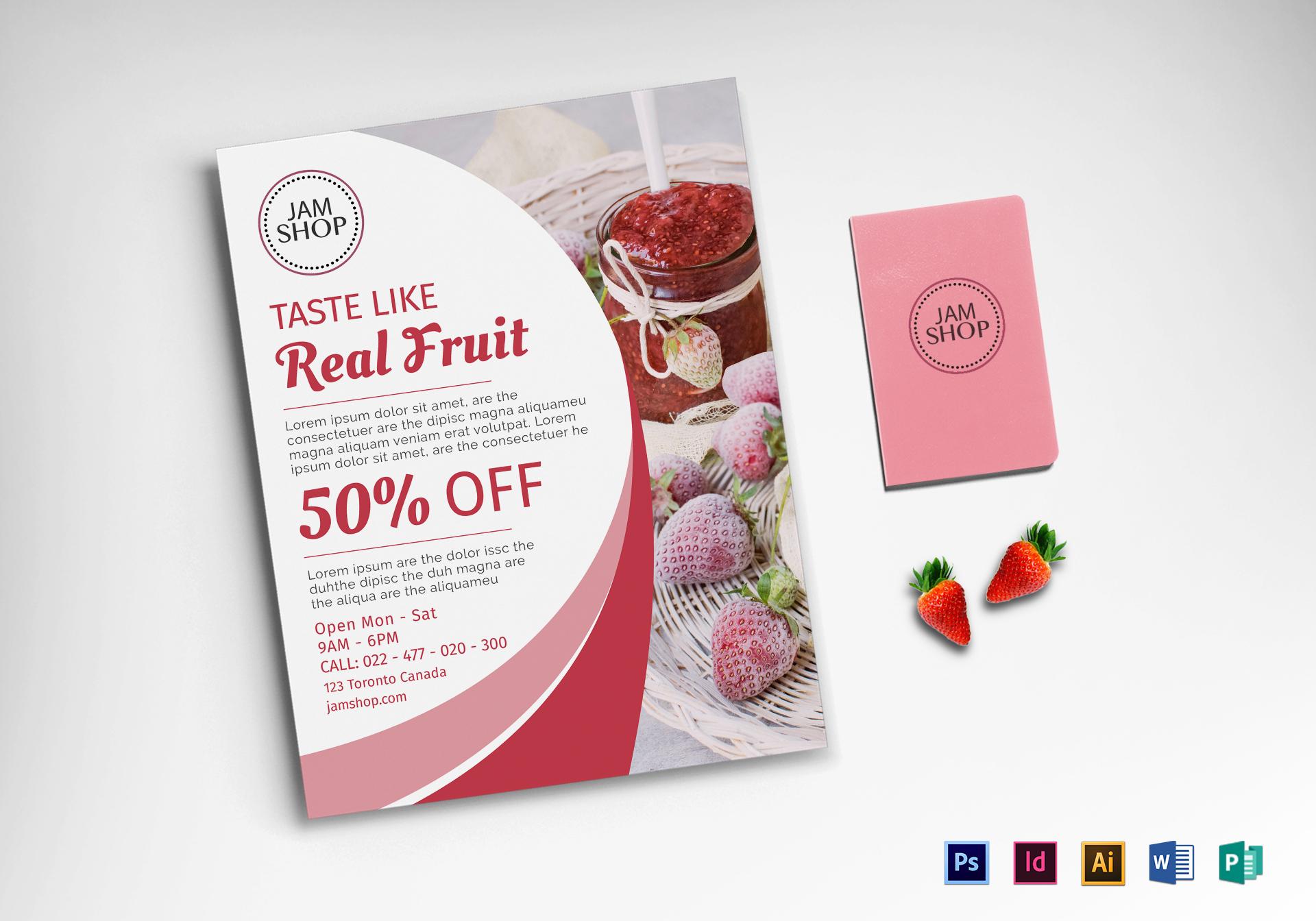 Jam Shop Flyer