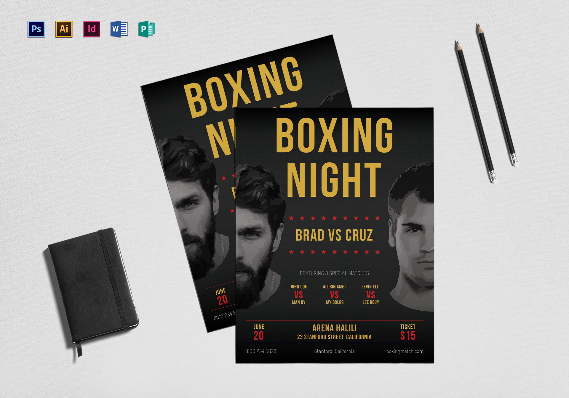 Boxing Flyer Template
