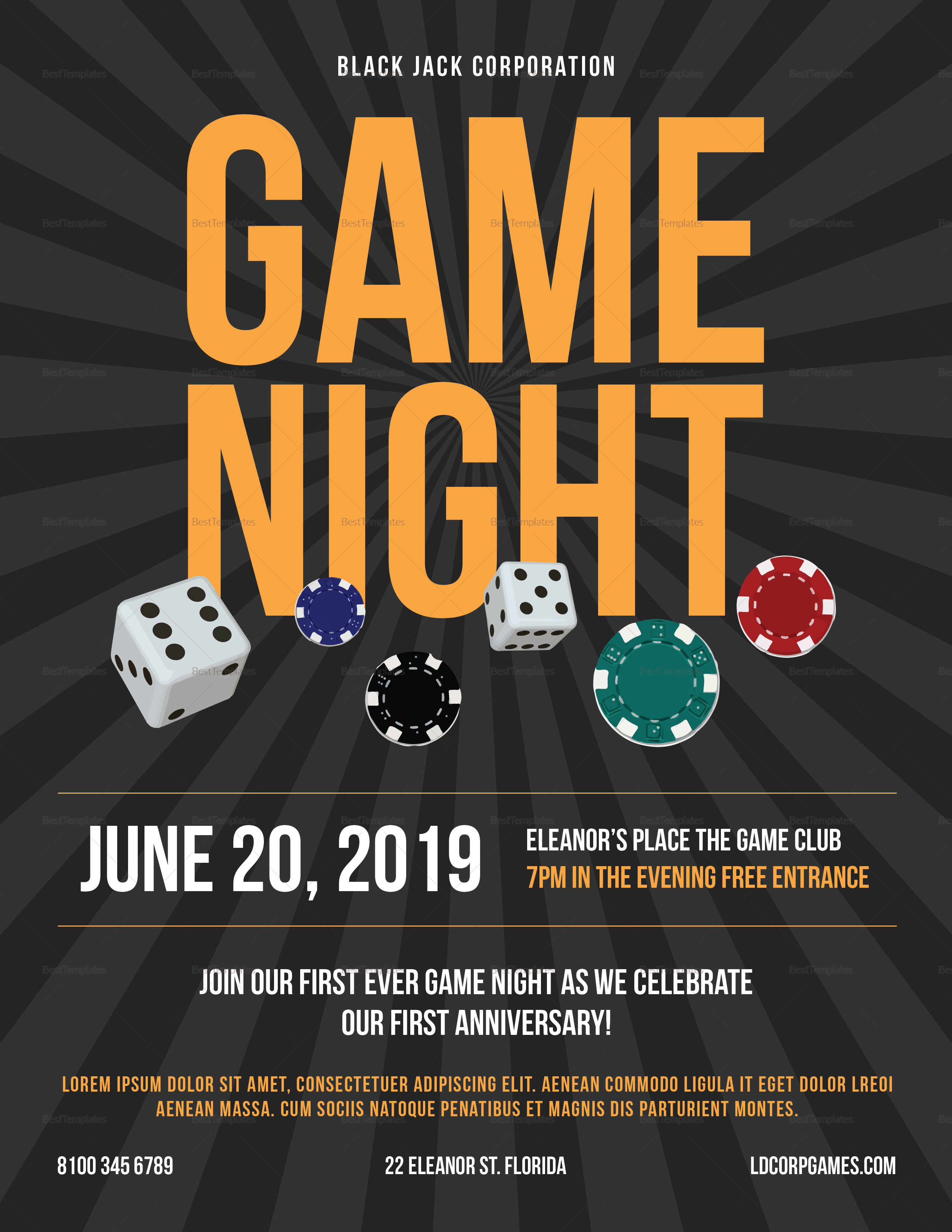 Casino Gaming Flyer Template