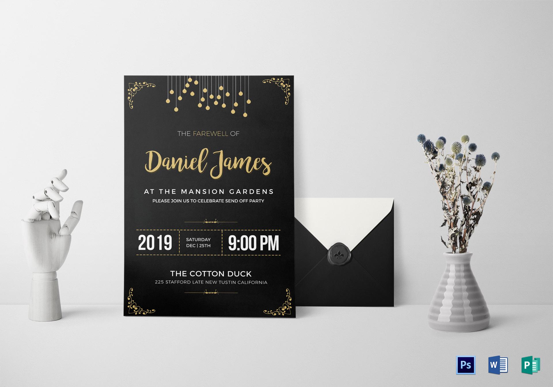 Attractive Farewell Invitation Card ...