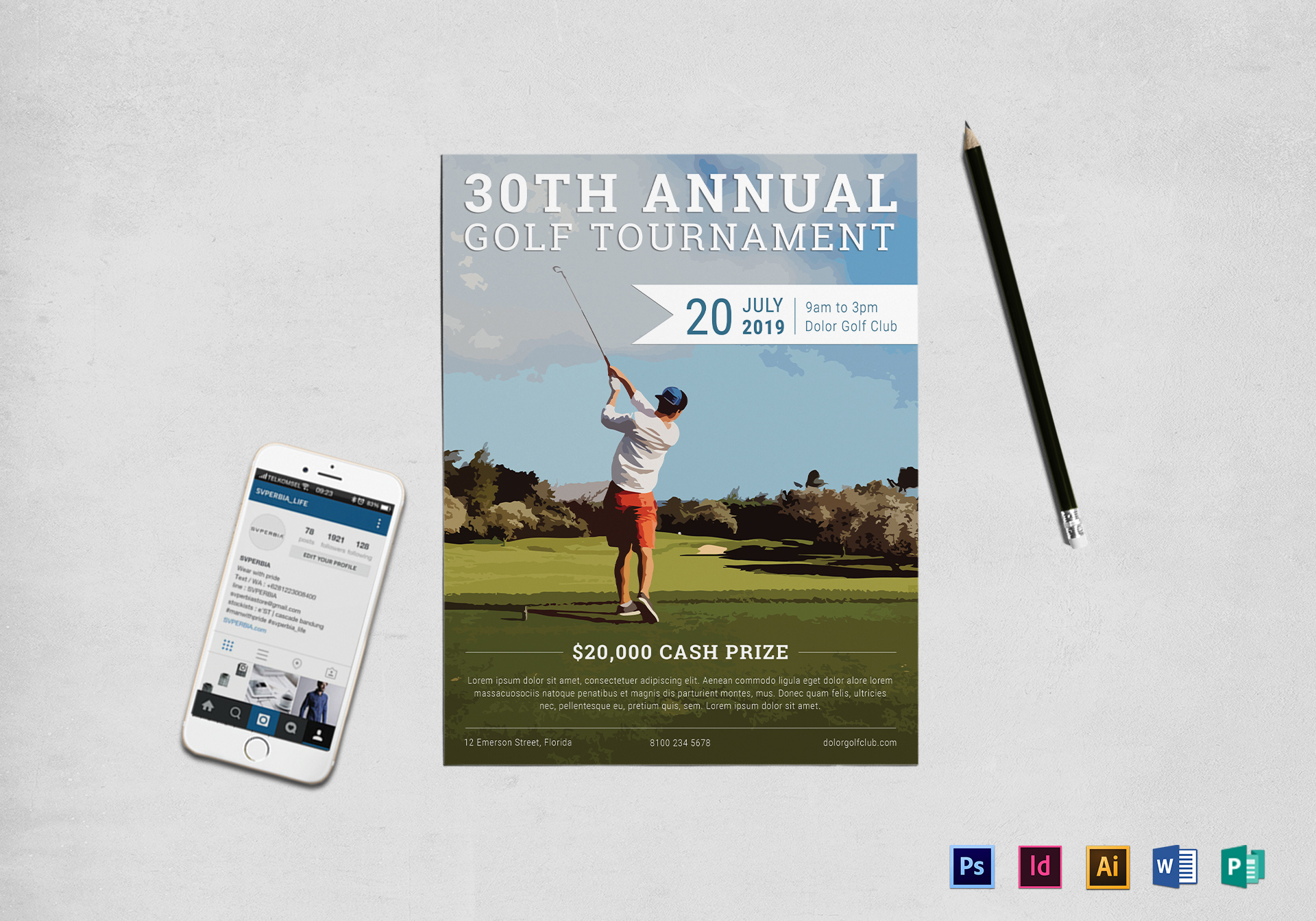 Annual Golf Tournament Flyer