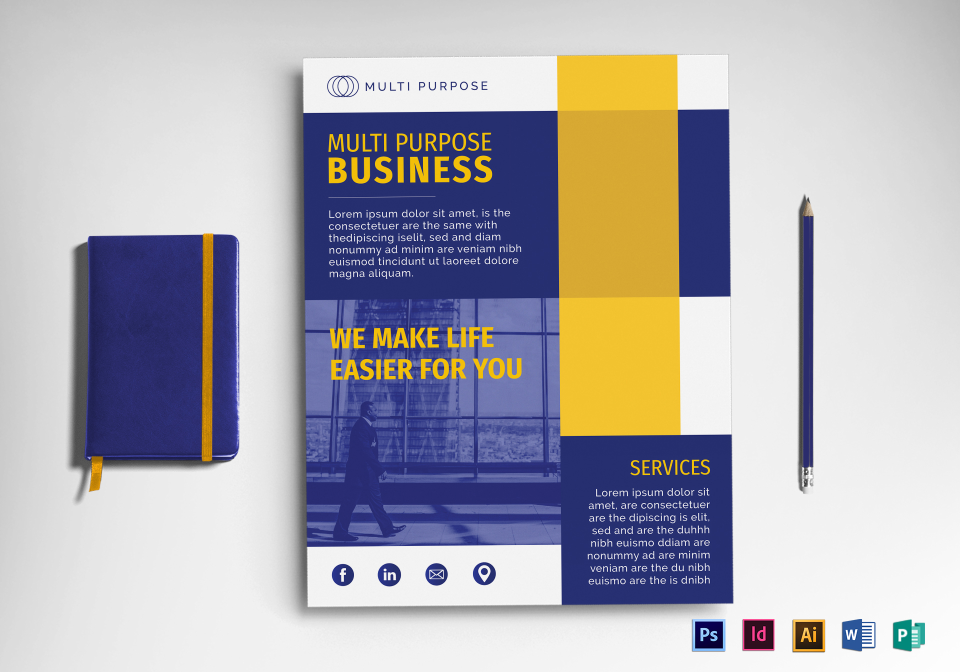 multi purpose business flyer design template in psd word publisher