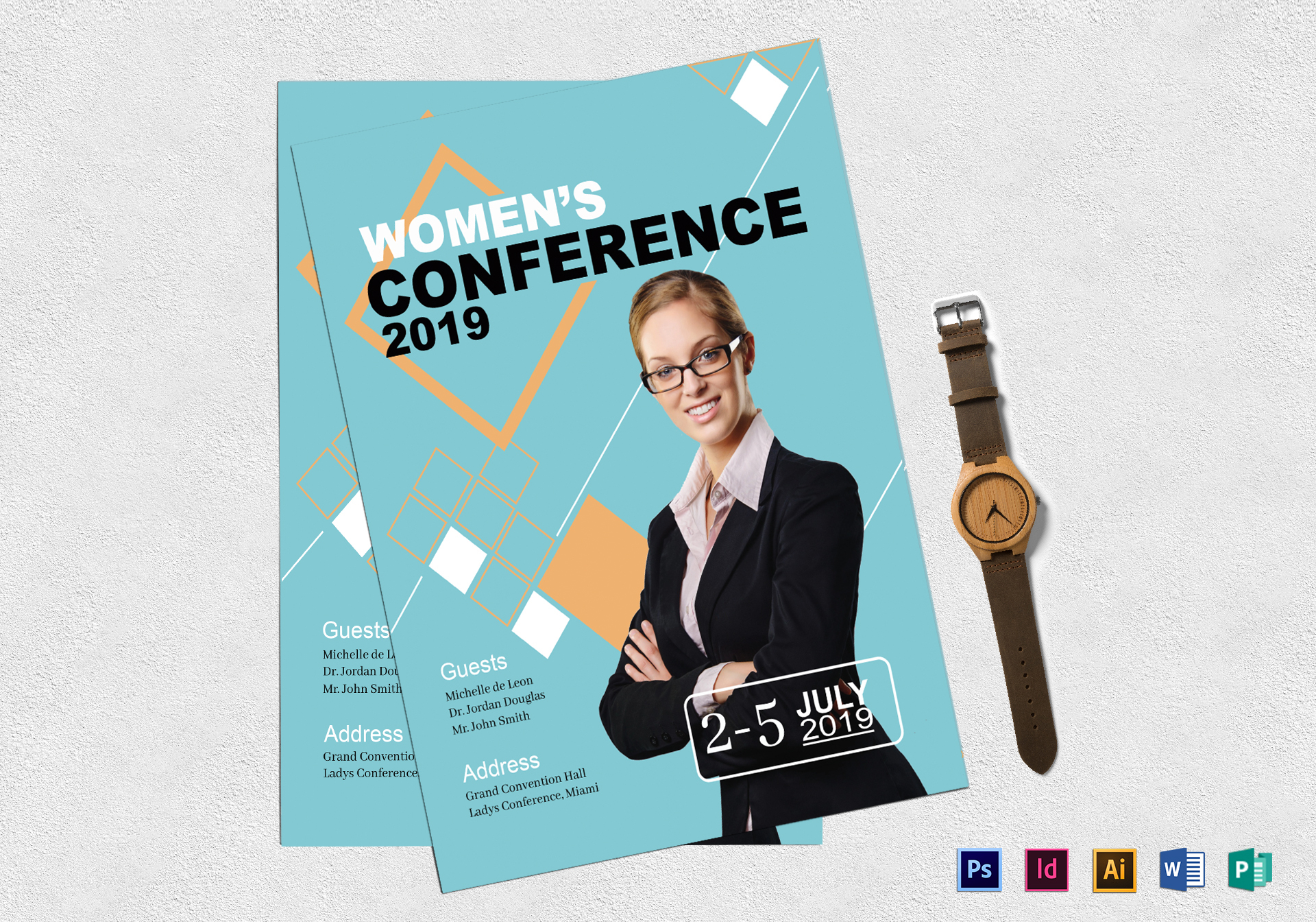 Women\'s Conference Flyer Design Template in PSD, Word, Publisher ...