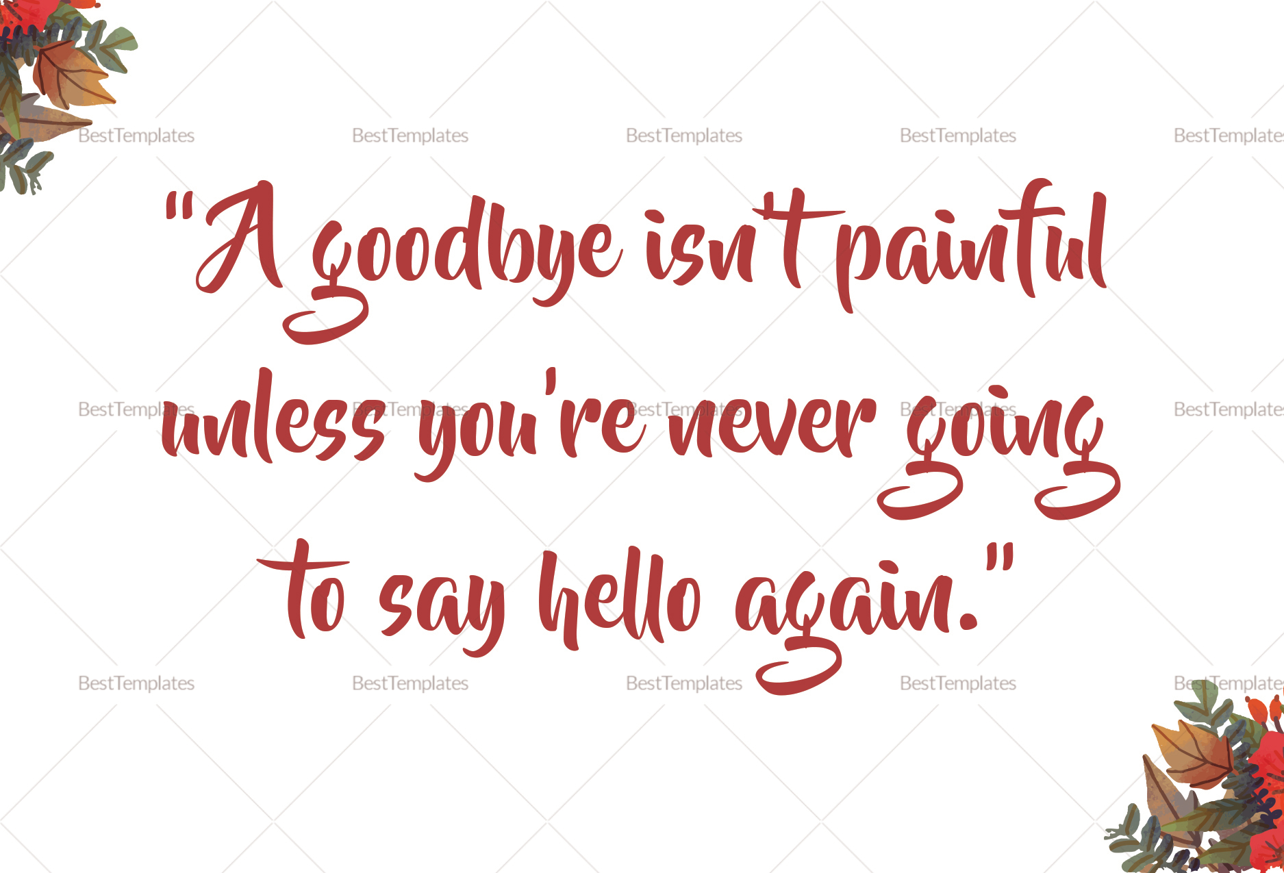 Farewell Card Template   Goodbye Farewell Invitation Card Design Template In Word Psd Publisher