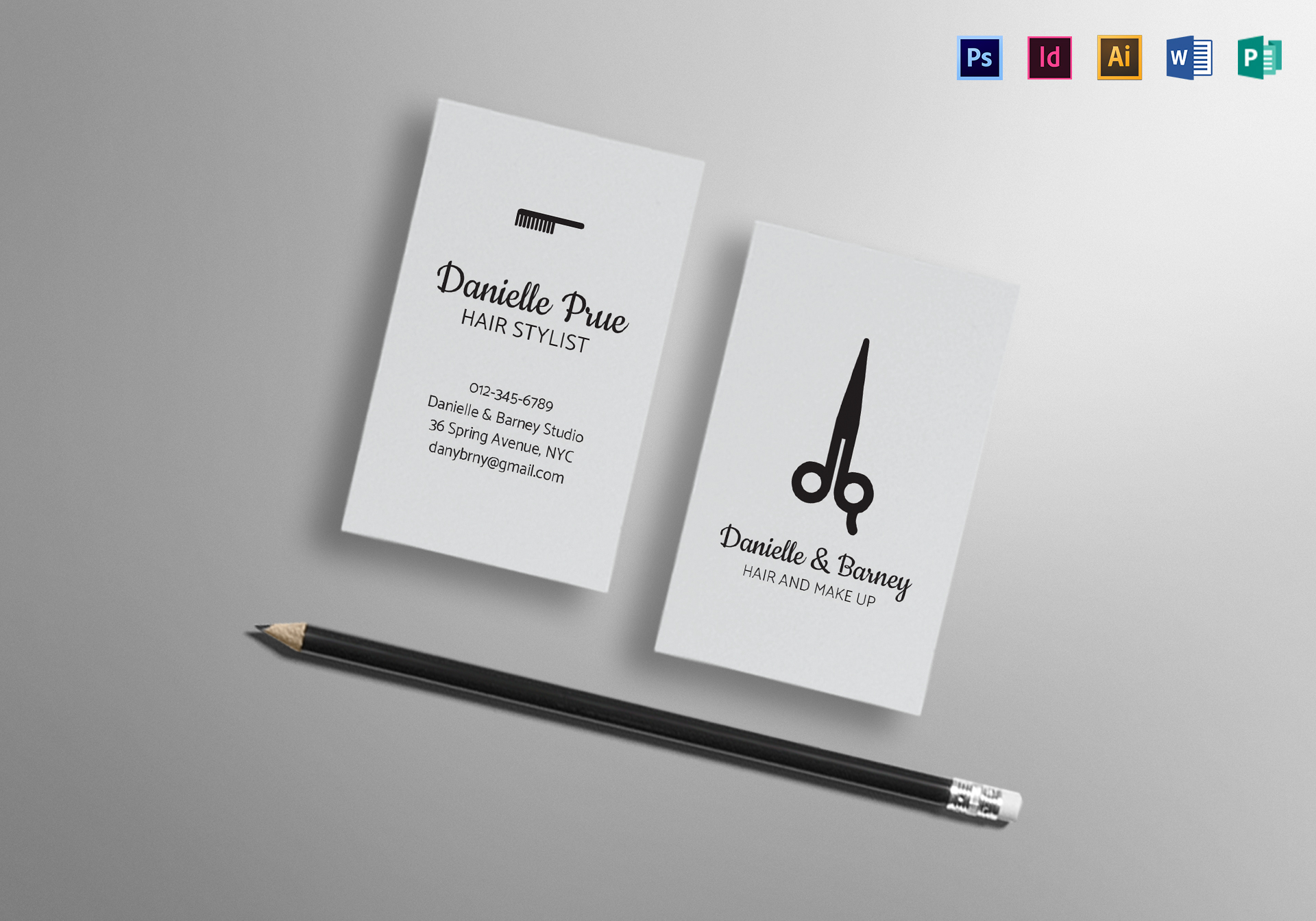 Hair Stylist Business Cards Templates