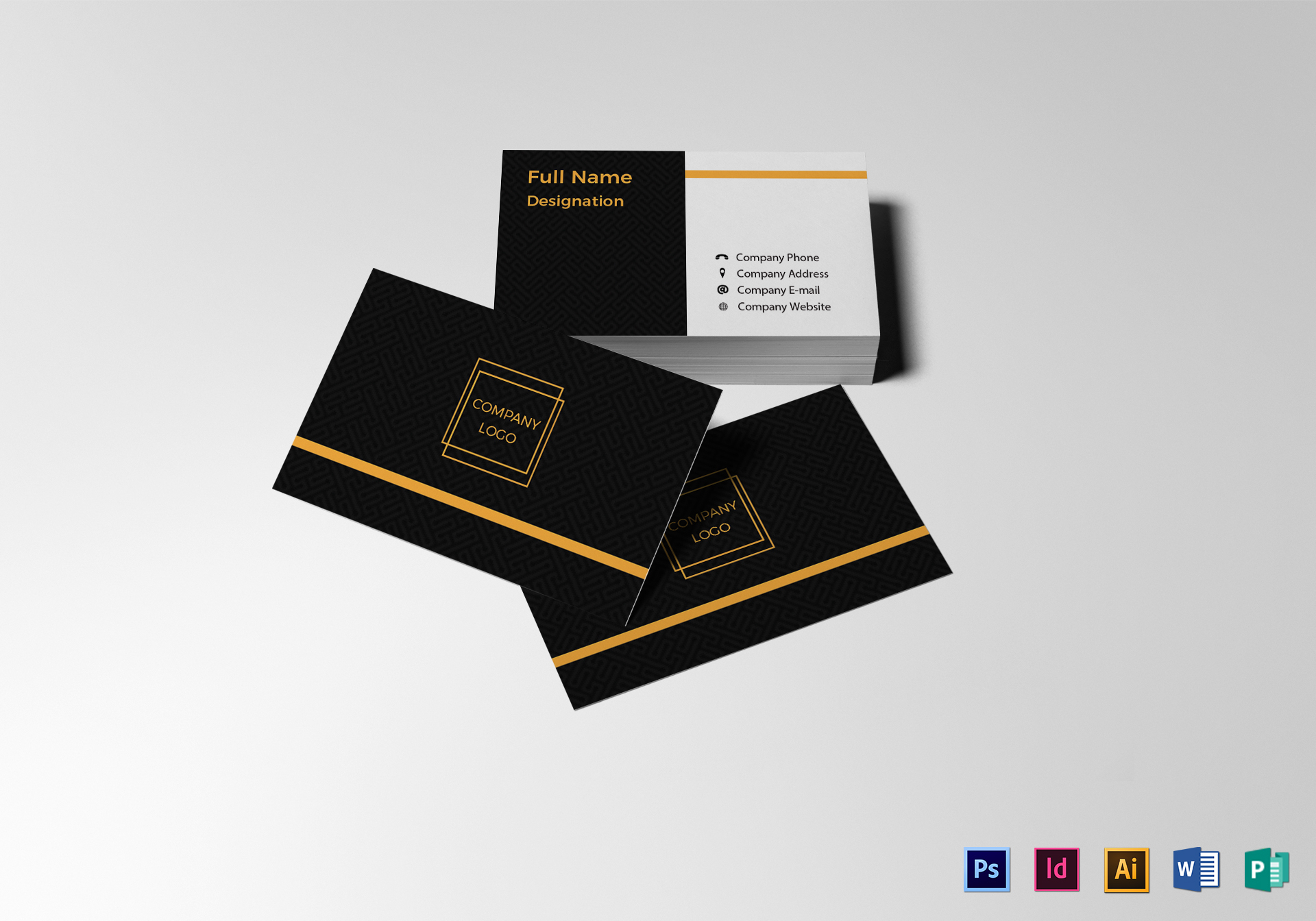 Blank business card design template in psd word publisher blank business card blank business card template fbccfo Image collections