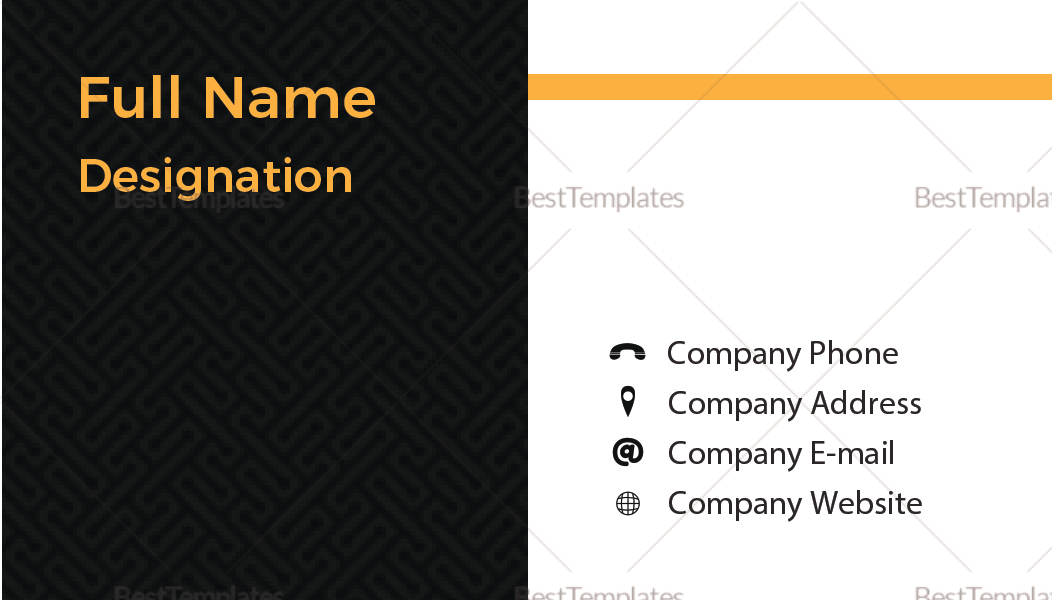 Blank Business Card Design Template In PSD, Word, Publisher, Illustrator, InDesign