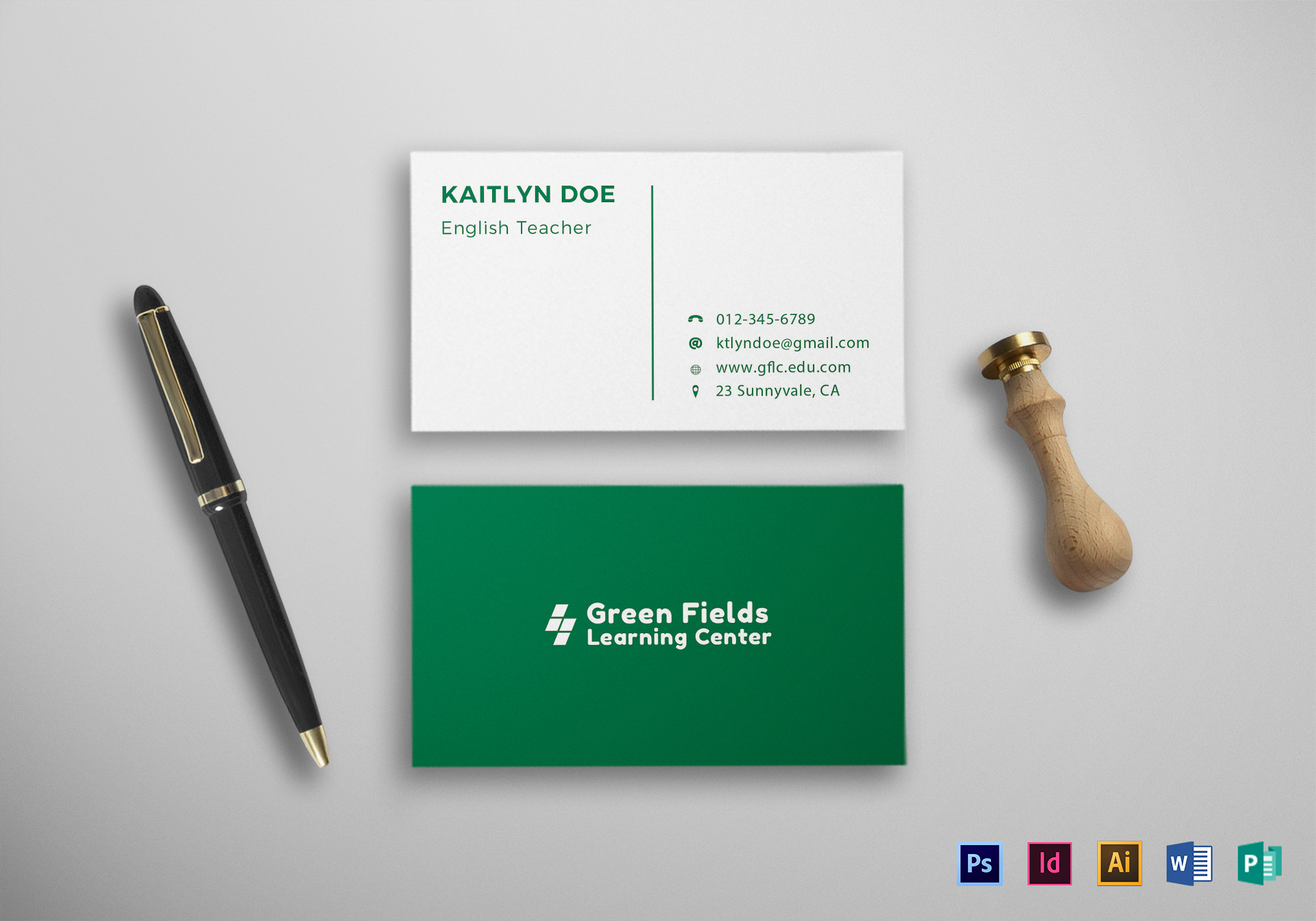 Teacher Business Card Design Template in PSD, Word, Publisher ...