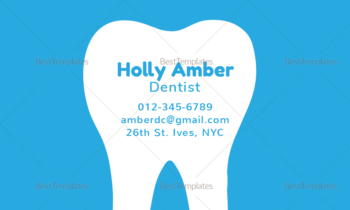 Dental business card design template in psd word publisher dental business card dental business card template cheaphphosting Choice Image