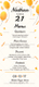 Birthday Party Menu Template
