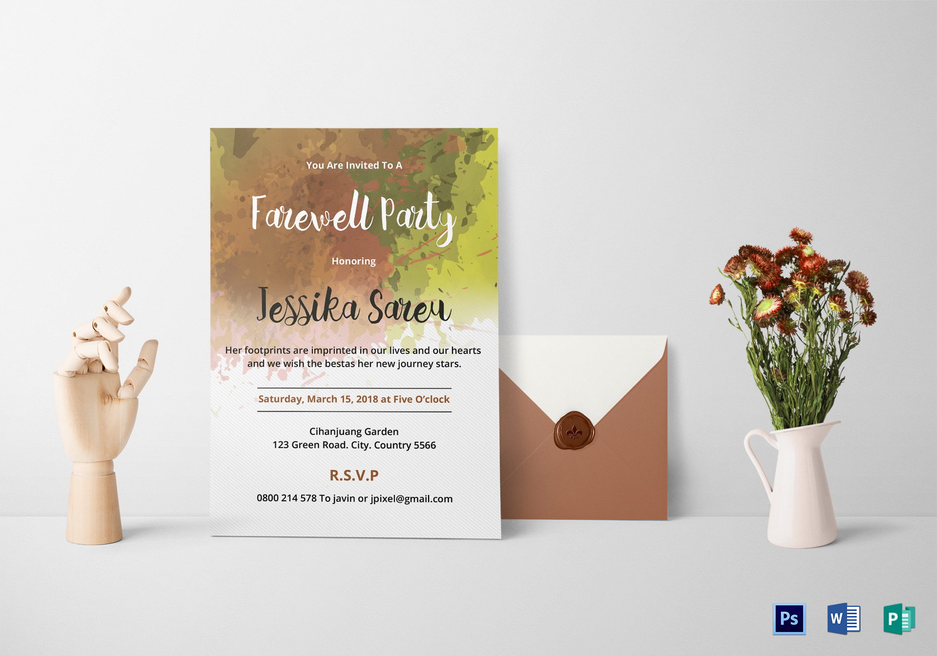 Farewell Party Invitation Design Template in Word, PSD, Publisher