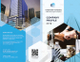 Company Profile Bi-Fold Brochure Template