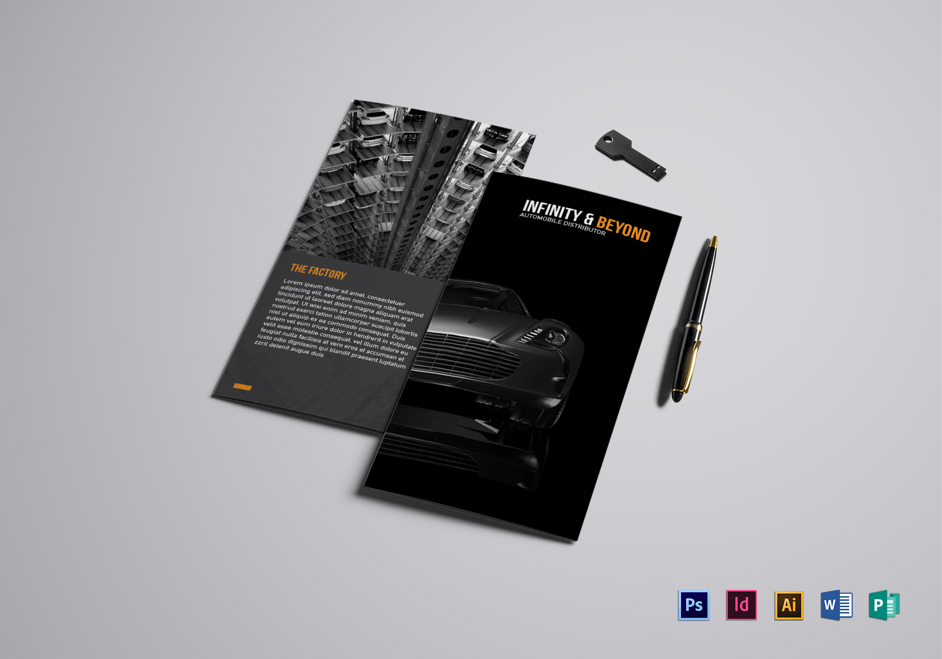 Modern Car Brochure Design Template in PSD, Word, Publisher ...