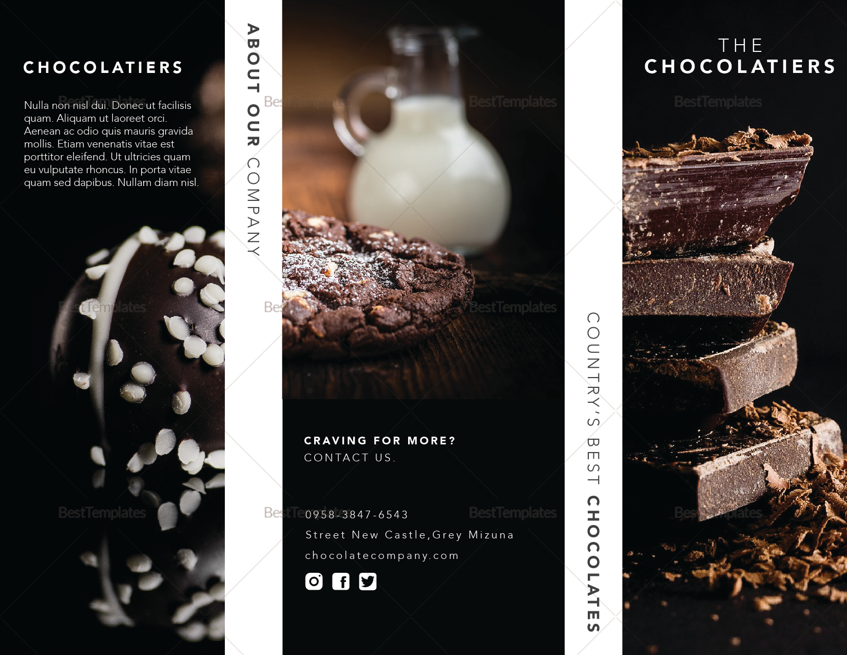Dark Chocolate Brochure Template
