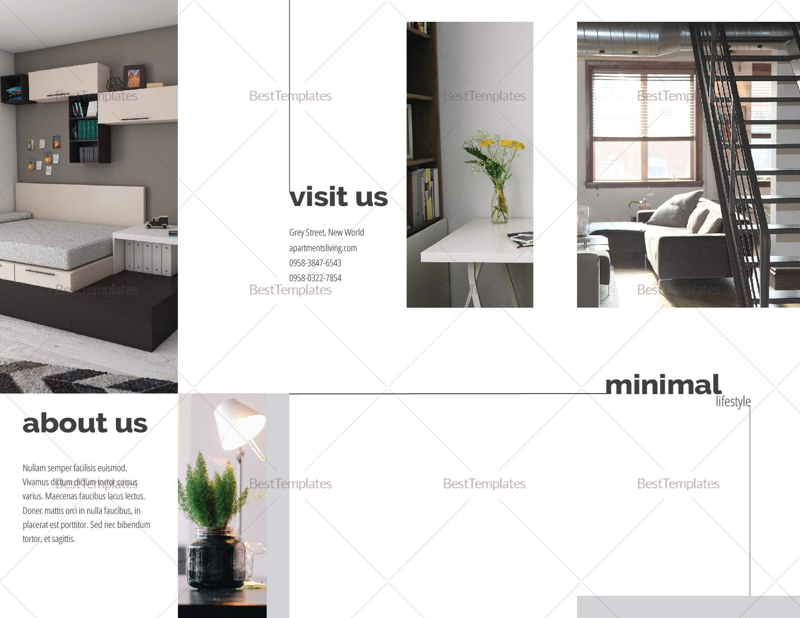 apartment brochure templates - luxurious apartment brochure design template in psd word