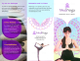 Yoga Class Brochure Design Template