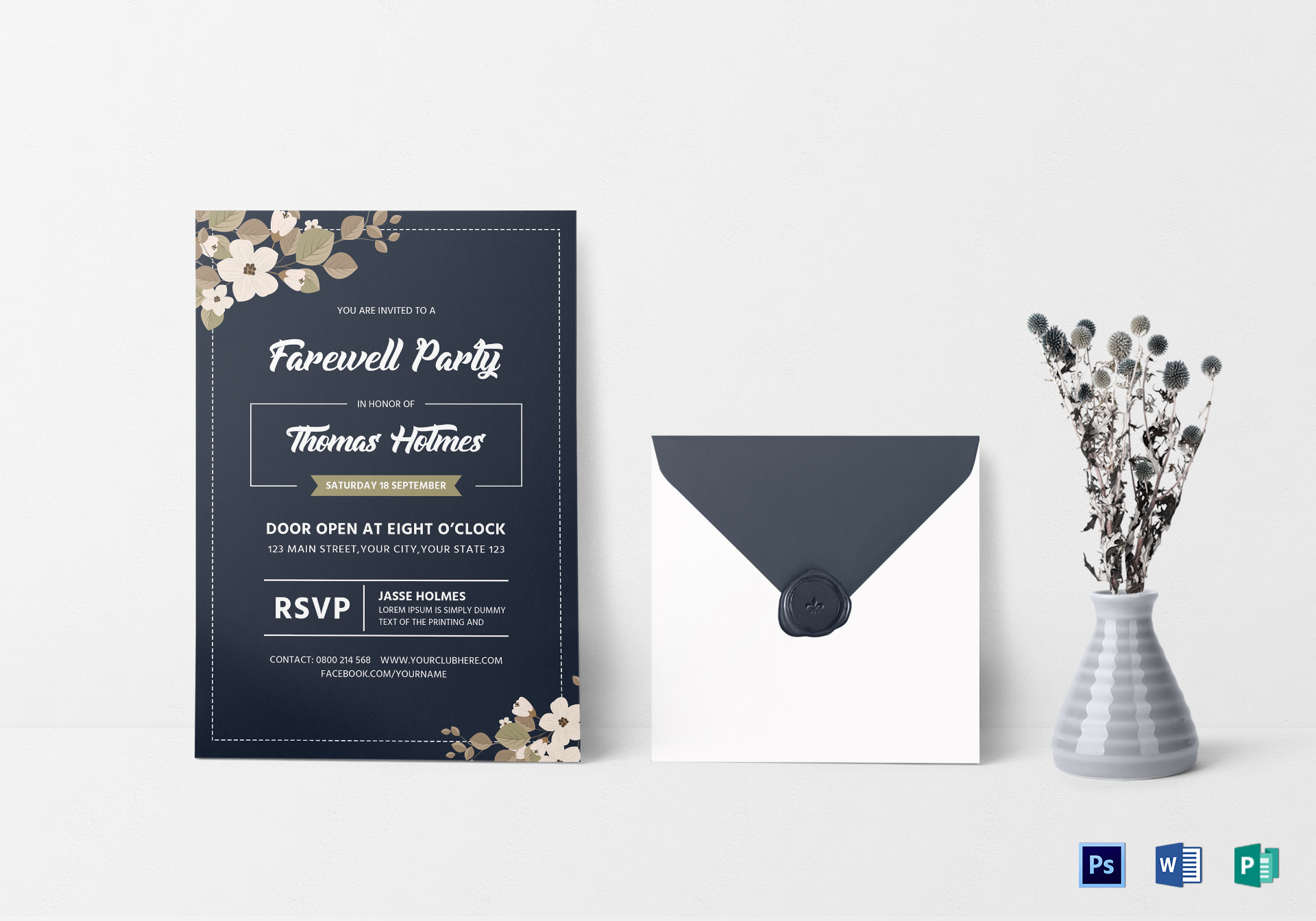 Farewell Party Invitation Card Design Template In Word Psd Publisher