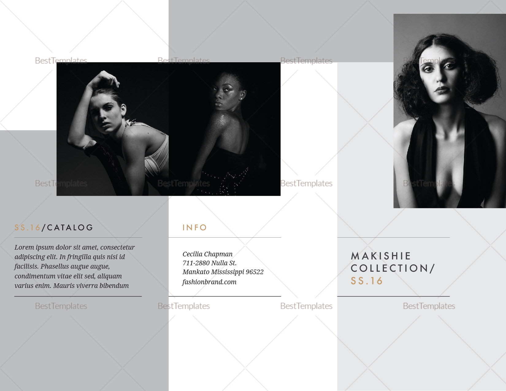 Fashion Brochure Design Template