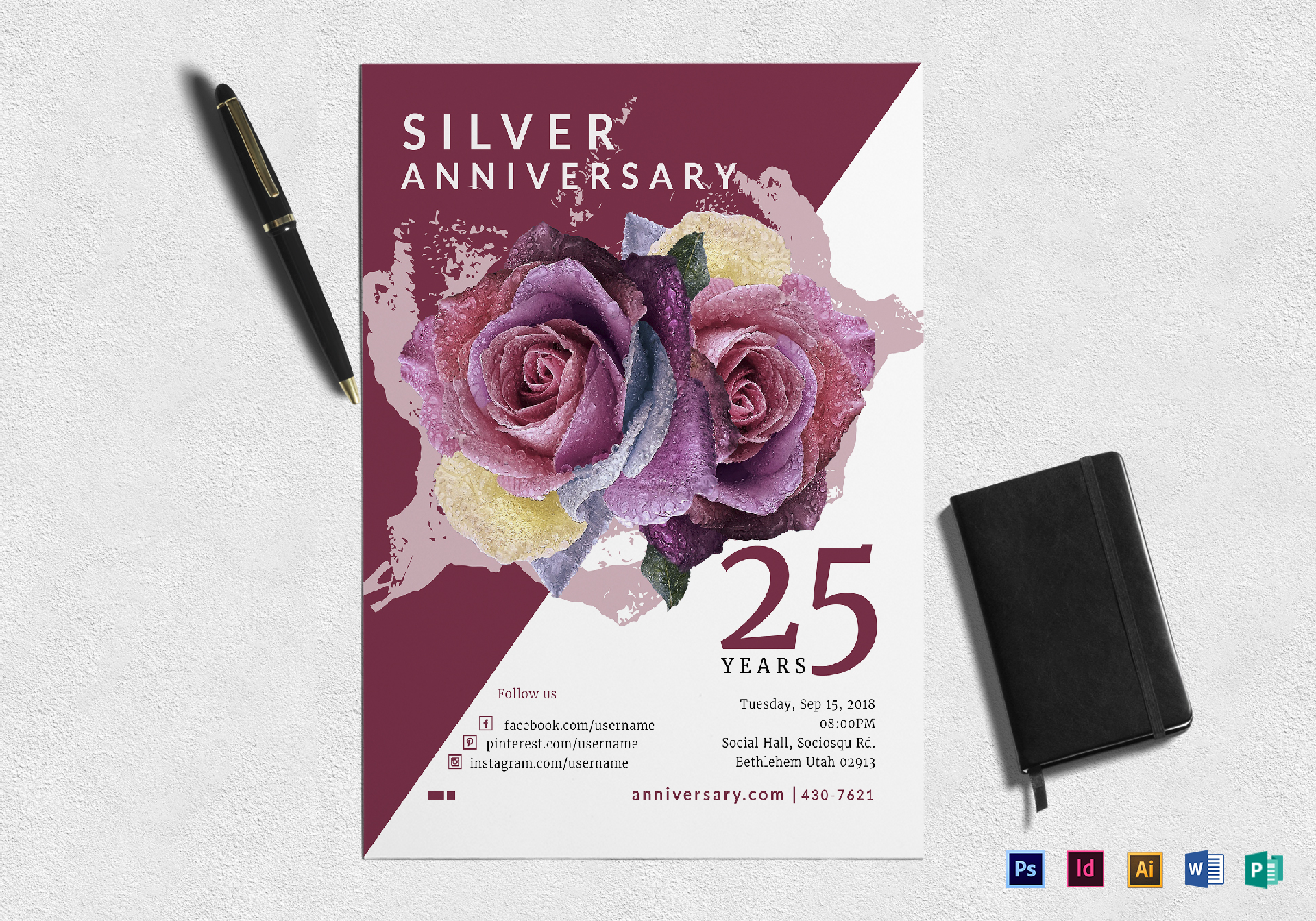 Silver Jubliee Anniversary Flyer
