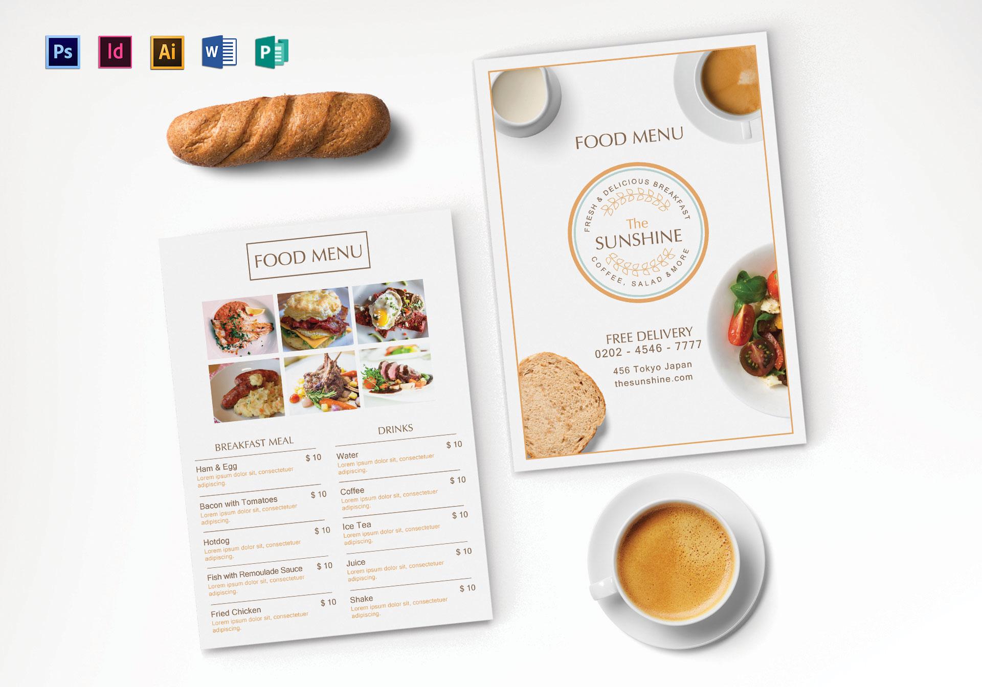 Breakfast Menu Template ...  Breakfast Menu Template