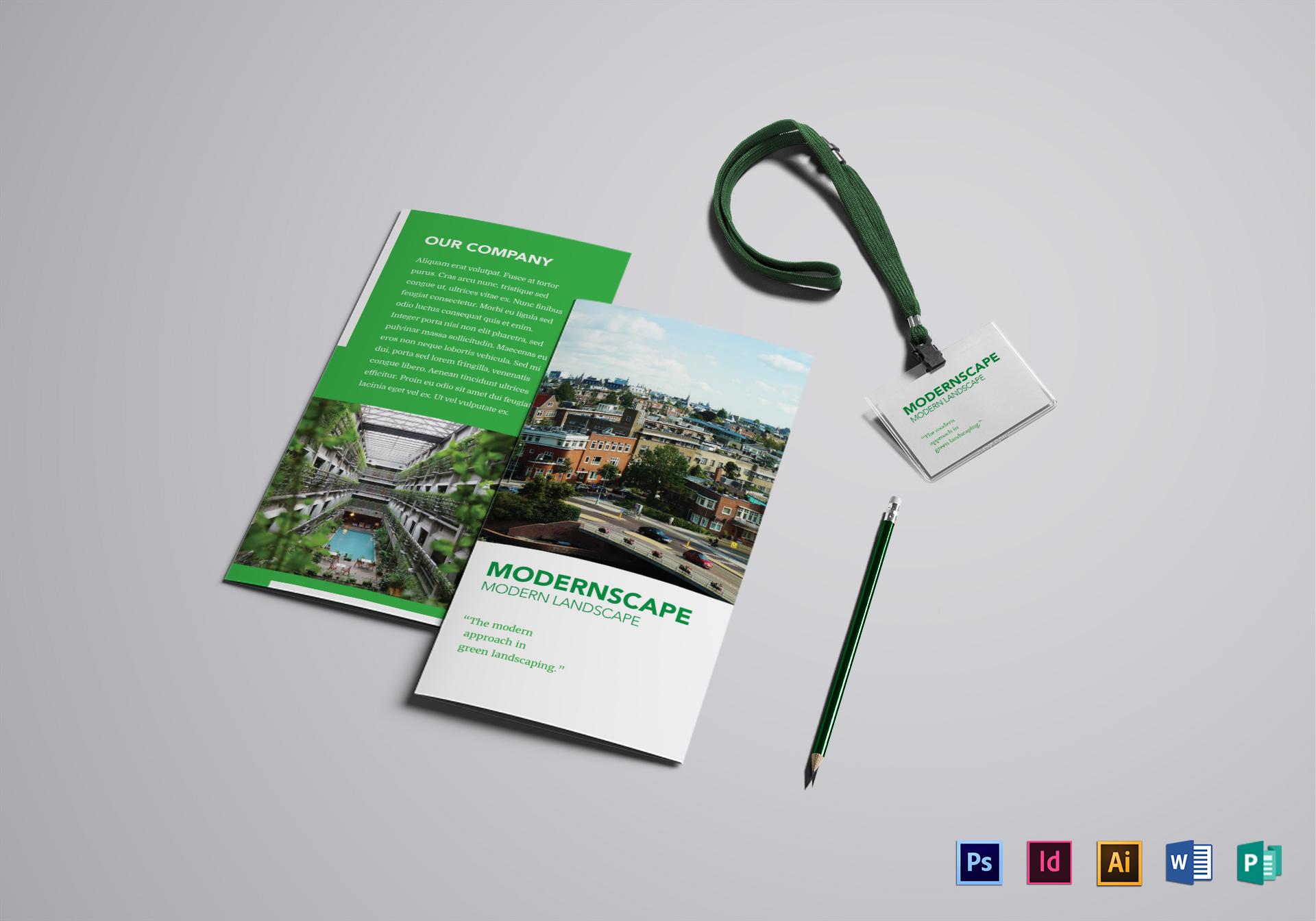 landscape brochure design template in psd illustrator indesign