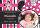 Sparkling Minnie Mouse Birthday Invitation Card Template