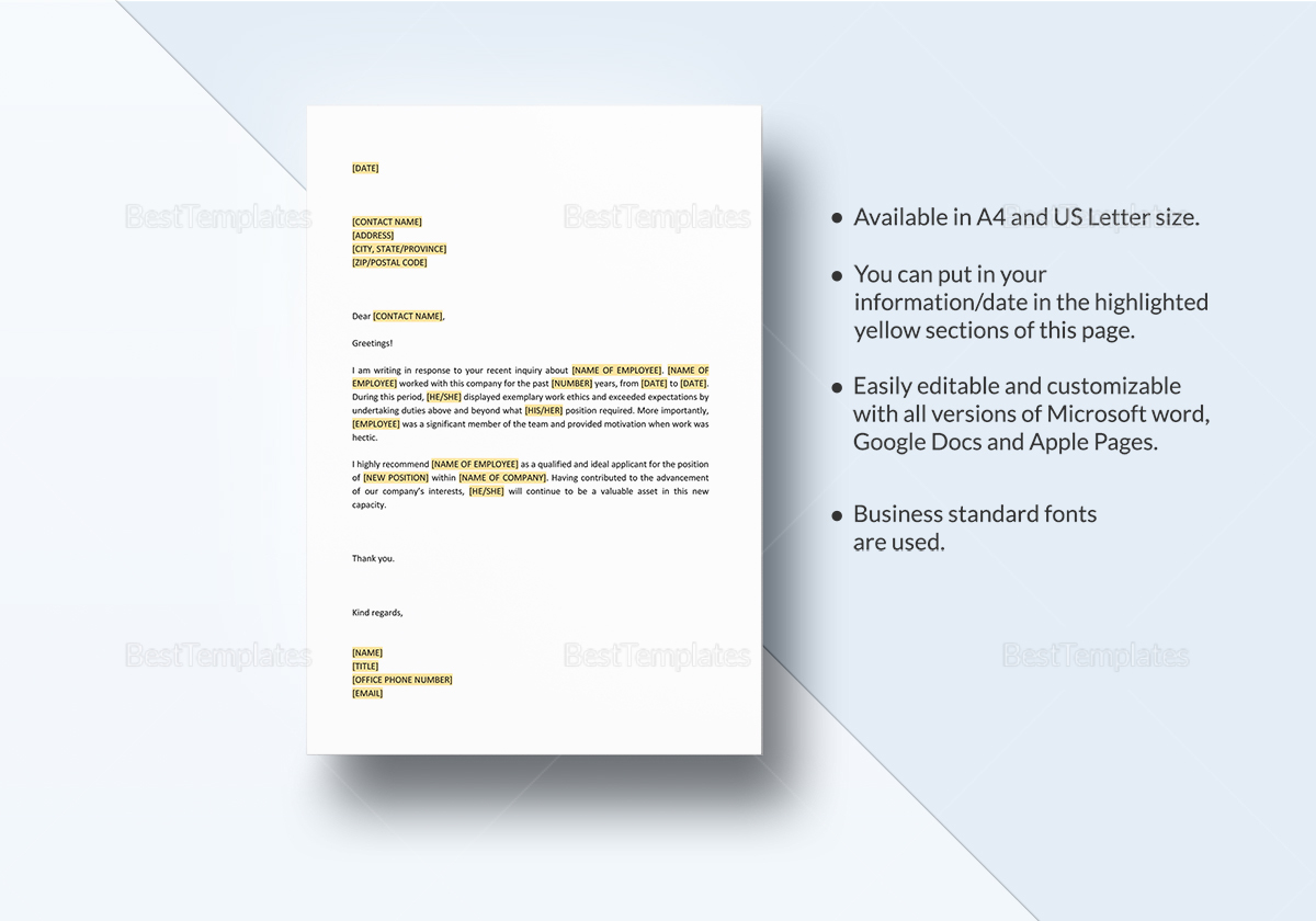Personal Recommendation of Employee Template