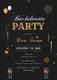 Bachelorette Party Invitation Card Design Template