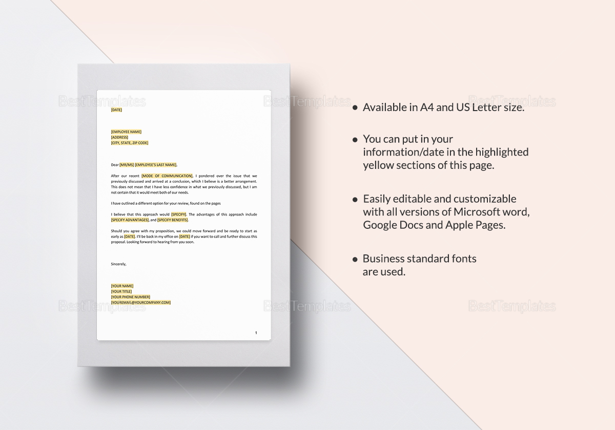 Option Enclosed in the Following Pages Template