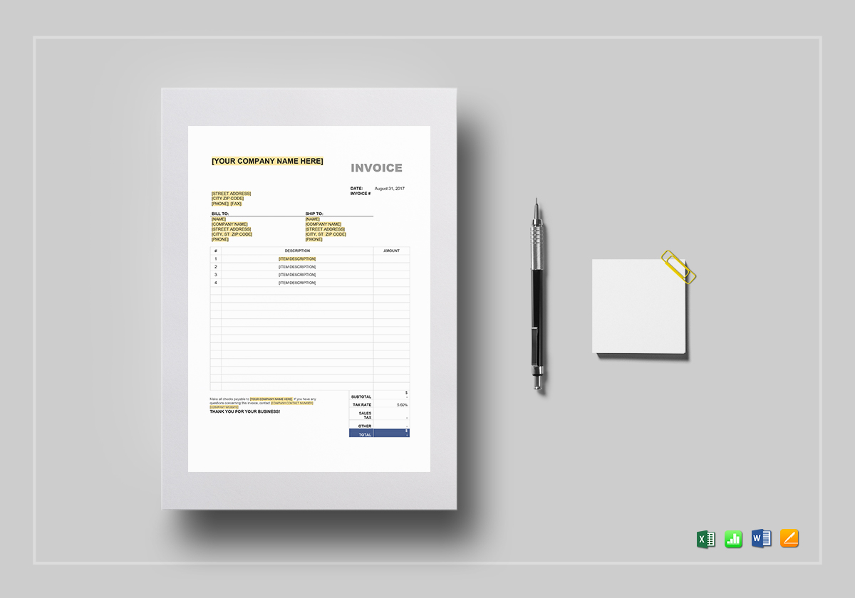 google drive invoice templates - Picture Ideas References