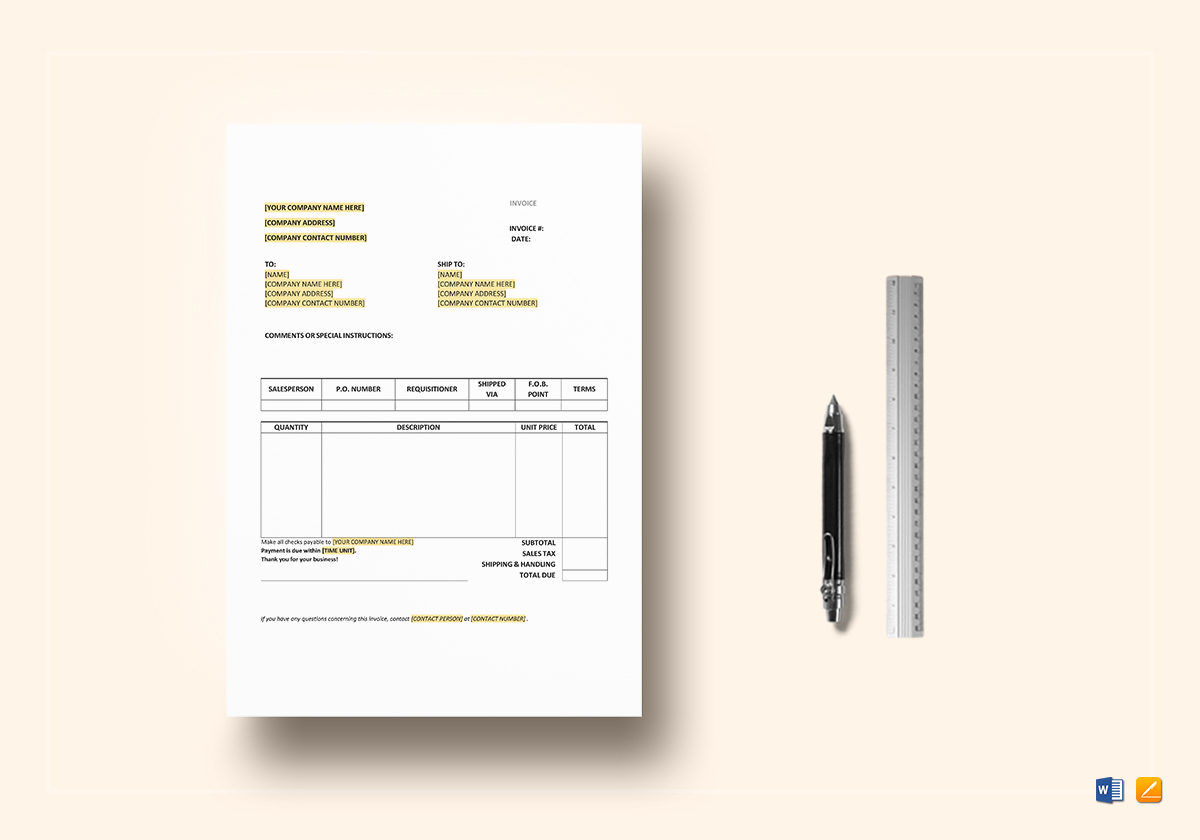 Purchase Invoice Template