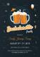 Cute Bachelorette Party Invitation Design Template