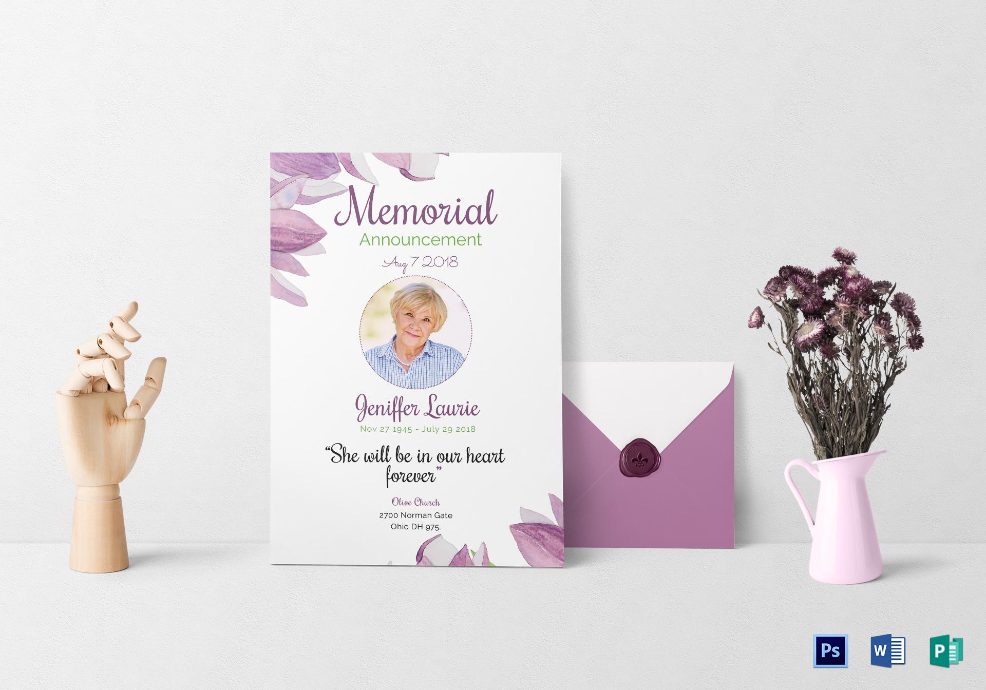 Classic Funeral Invitation