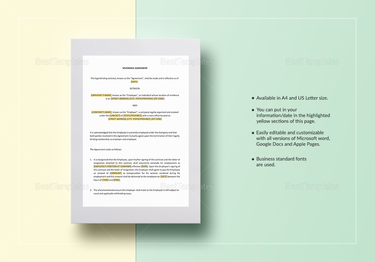 Severance Agreement Template