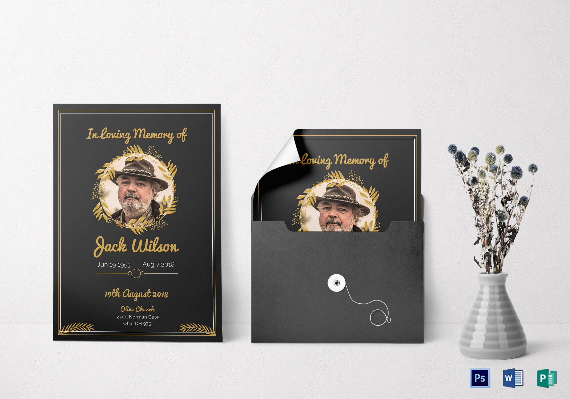 Funeral Invitation Card